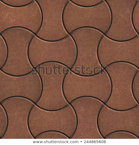 brown paving slabs in the streamlined form stock photo © tashatuvango