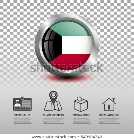 карта флаг кнопки Кувейт вектора изображение Сток-фото © Istanbul2009