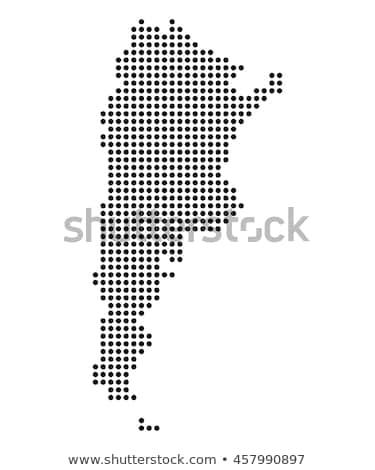 Térkép Argentína pont minta vektor kép Stock fotó © Istanbul2009