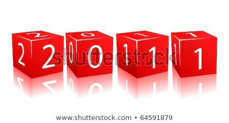 red cubes 2011 stock photo © marinini