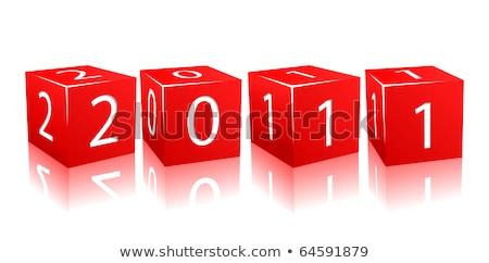 Rosso 2011 3D bianco testo Foto d'archivio © marinini