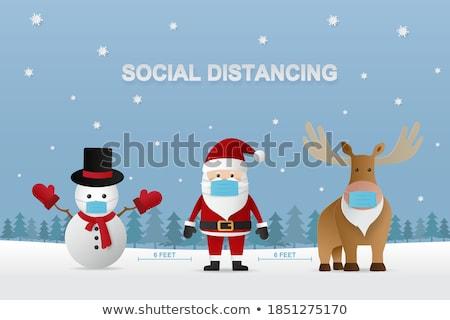 Sneeuwpop tonen vriendschap textuur vrienden Stockfoto © tamasvargyasi