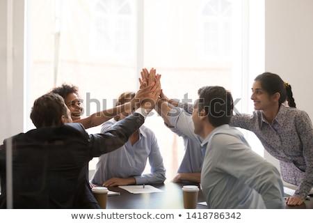 empresario · ofrecimiento · mano · apretón · de · manos · atención · selectiva · negocios - foto stock © szefei