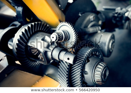 mechanical engineering on the metal gears stock photo © tashatuvango