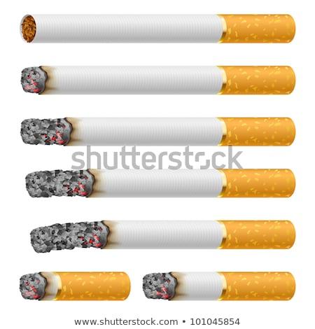 Brandend sigaret geïsoleerd witte gezondheid achtergrond Stockfoto © ozaiachin