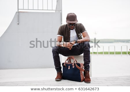 Mode man zonnebril portret Stockfoto © feedough