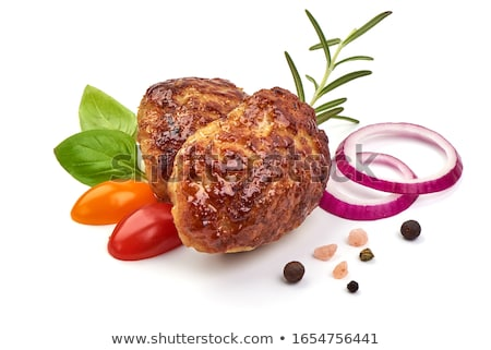 Frito casero carne negro Foto stock © zhekos