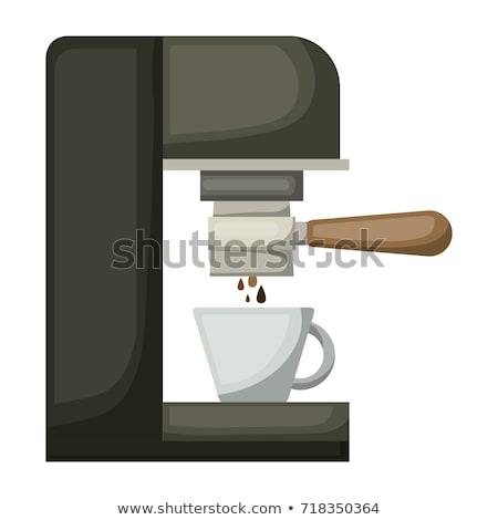 Espresso machine zijaanzicht witte kantoor koffie Stockfoto © PetrMalyshev