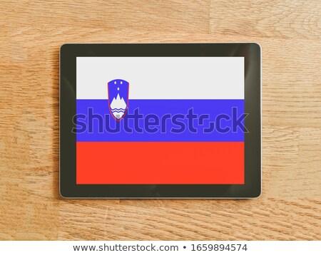 Tabletta Szlovénia zászló kép renderelt mű Stock fotó © tang90246