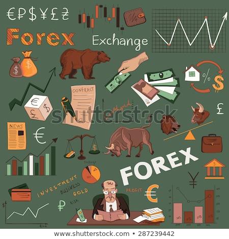 Gekleurd financieren forex hand tekening patroon Stockfoto © netkov1