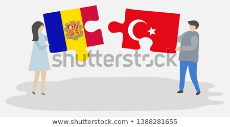 Turkey and Andorra Flags in puzzle Stock photo © Istanbul2009