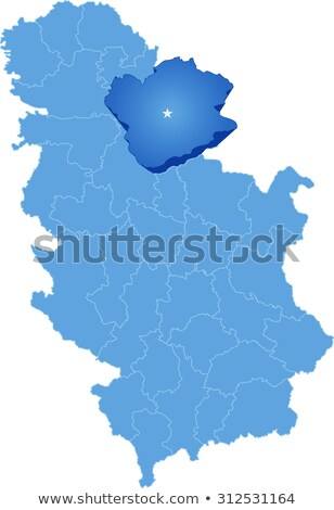 map of serbia subdivision south banat district stock photo © istanbul2009