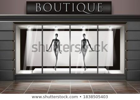 Stylish mannequin outside showcases a shopping center Stock photo © bezikus
