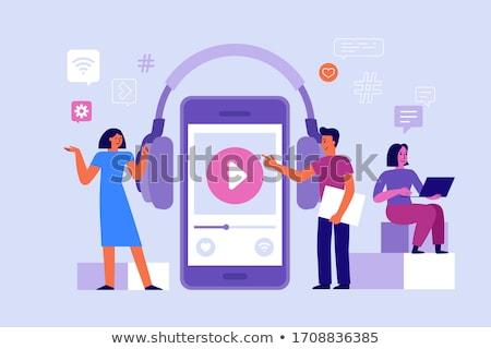 Подкаст приложение вещать скачать аудио слово Сток-фото © stuartmiles