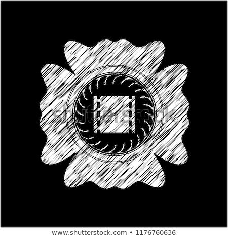 retro tv icon drawn in chalk stock photo © rastudio