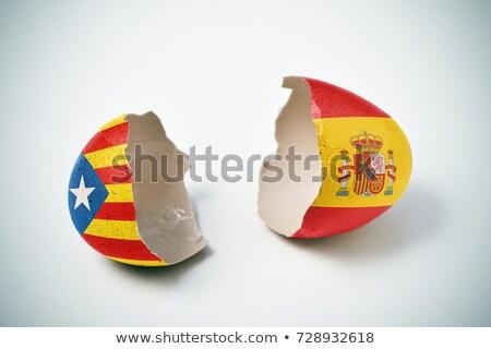 Separação mapa Espanha gráfico rachar rasgar Foto stock © georgejmclittle
