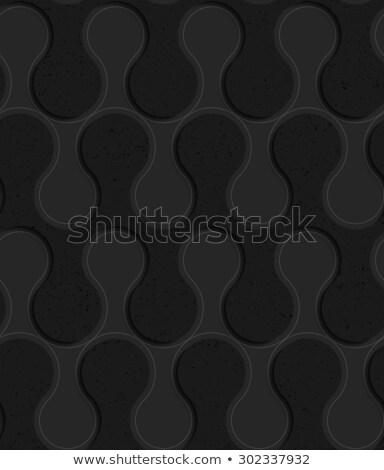 Foto stock: Negro · plástico · sólido · olas · resumen