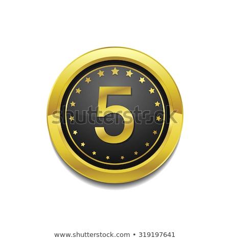 Medal wektora złota web icon przycisk Zdjęcia stock © rizwanali3d