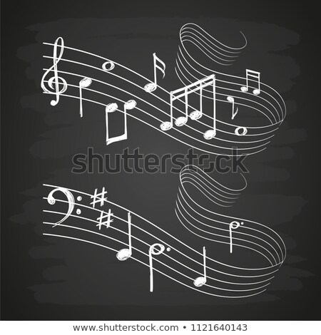 Música nota icono tiza dibujado a mano Foto stock © RAStudio