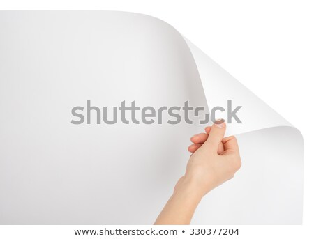 стороны пустая страница изолированный белый бумаги человека Сток-фото © cherezoff