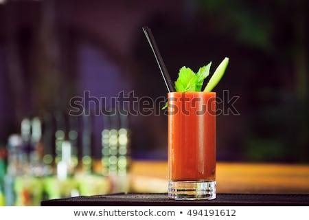 Sangrento coquetel beber pimenta de caiena pimenta Foto stock © netkov1