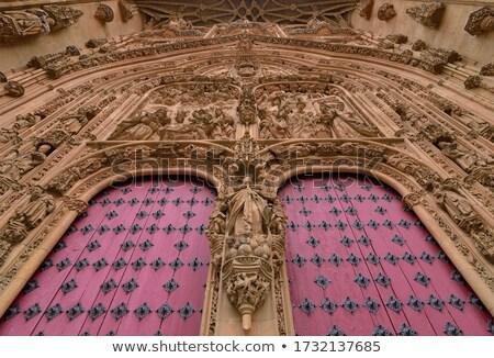 Katedral kapı İspanya Bina kilise mimari Stok fotoğraf © lunamarina