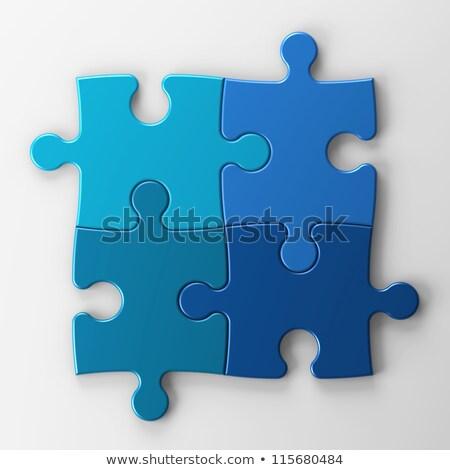 Plan - Text on Blue Puzzles. Stock photo © tashatuvango