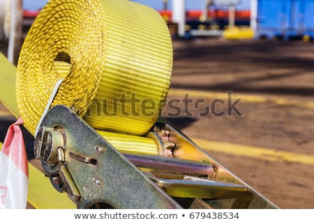 Load securing with a ratchet strap Stock photo © Zerbor