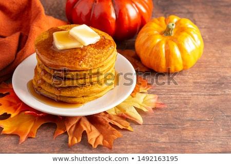 Calabaza frito dulce mesa de madera naranja Foto stock © Peredniankina