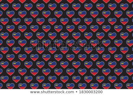 Amore Liechtenstein segno isolato bianco cuore Foto d'archivio © MikhailMishchenko