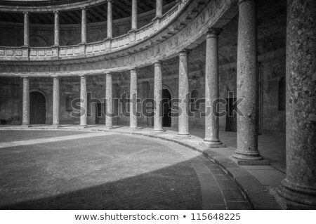黒白 ドア アルハンブラ宮殿 宮殿 スペイン マスター ストックフォト © rmbarricarte