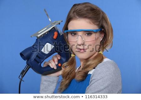 Jeune femme chaîne vu femme fille travailleur Photo stock © Paha_L