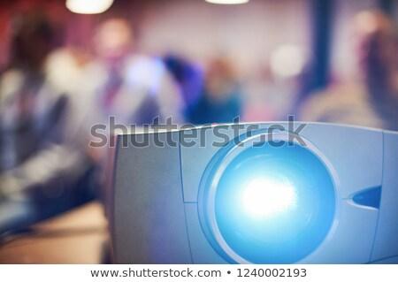 Multimediali proiettore bianco istruzione monitor Foto d'archivio © ozaiachin
