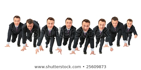 Crowd of business clones collage Stock photo © Paha_L