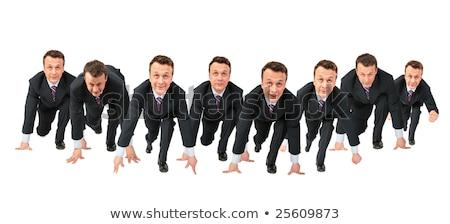 Tömeg üzlet kollázs munka üzletember öltöny Stock fotó © Paha_L