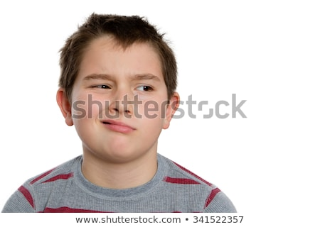 Bored Ten Year Old Boy Looking to the Right Stock photo © ozgur