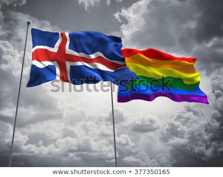 Islandia gay mapa país orgullo bandera Foto stock © tony4urban