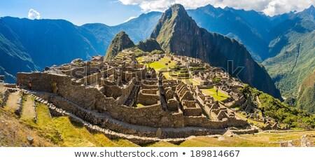 Machu Picchu Peru manzara dağ taş mimari Stok fotoğraf © alexmillos