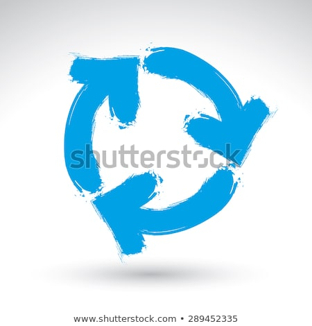 hand with painted recycling symbol Stock photo © prill