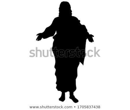 İsa siluet örnek adam çapraz dua Stok fotoğraf © adrenalina