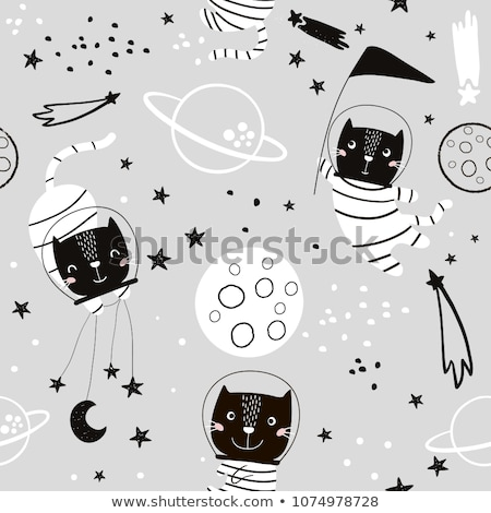 spase and star pattern for kid stock photo © galyna