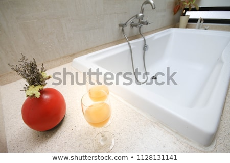 Twee schoon water christmas decoratie glas tabel Stockfoto © CaptureLight