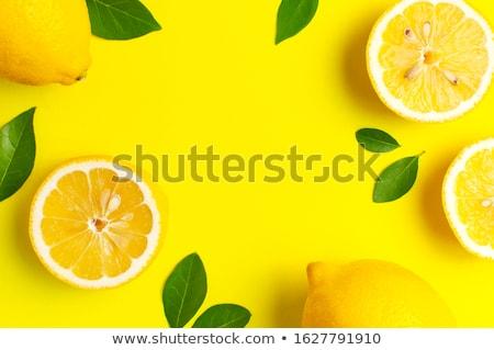 Limón cítricos aislado blanco fondo Foto stock © c12