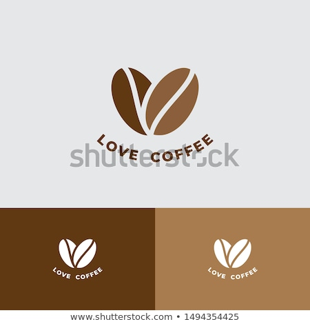 Coffee beans and love symbol Stock photo © CaptureLight