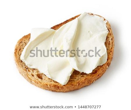 Ekmek peynir dilim rulo kremsi Stok fotoğraf © Digifoodstock
