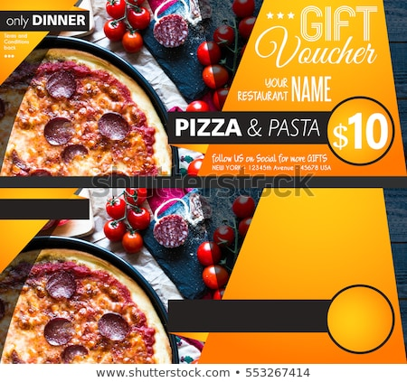 Voucher Gift Card layout template for your promotional design Stock photo © DavidArts
