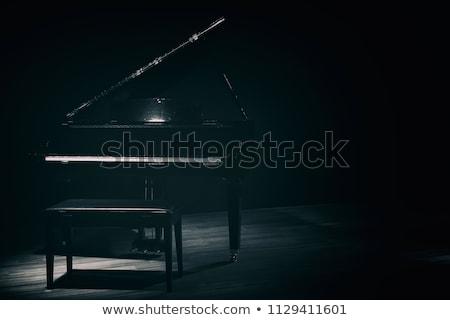 Piano à queue haut vue brun musique Photo stock © Bigalbaloo