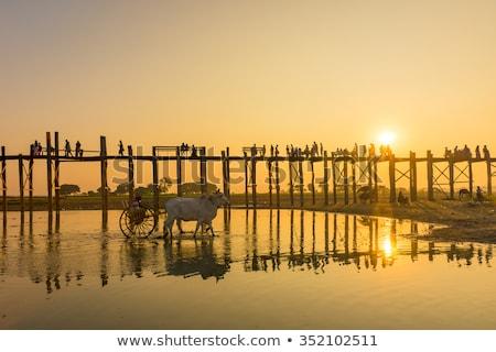 U-Bein teak bridge in Mandalay, Myanmar Stock photo © Mikko