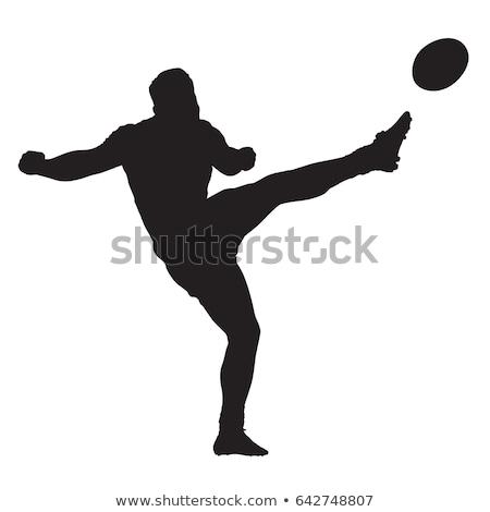 Rugby giocatore calci palla bianco sport Foto d'archivio © wavebreak_media