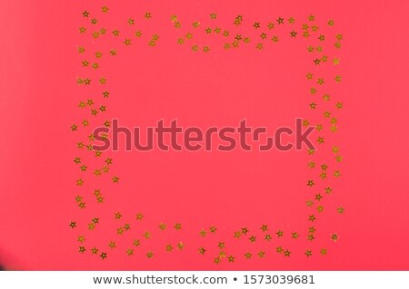 gold star with red balls Stock photo © funix